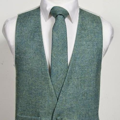 Tweed Sea Green