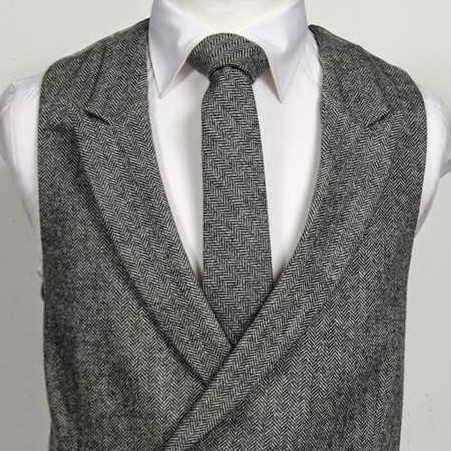 Tweed DB Charcoal Herringbone