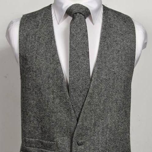 Tweed Charcoal Herringbone