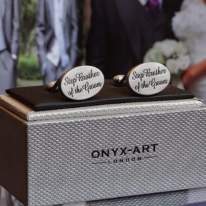 Step Brother of the Groom Oval Cuff Links