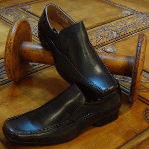 Black/brown Slip-on Shoes