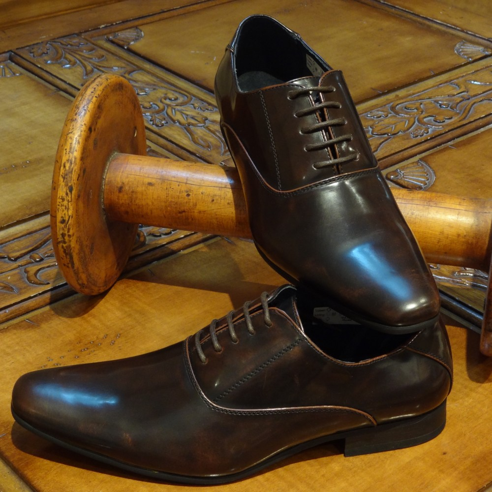Black Brown Patent Shoes