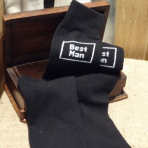 Best Man Black Wedding Socks