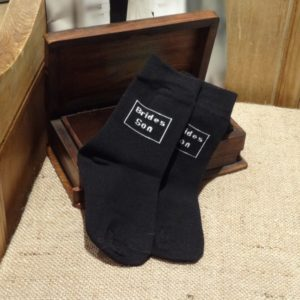 Brides Son Boys Black Wedding Socks