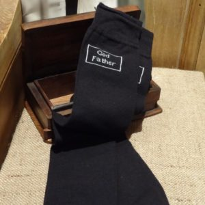 God Father Black Wedding Socks