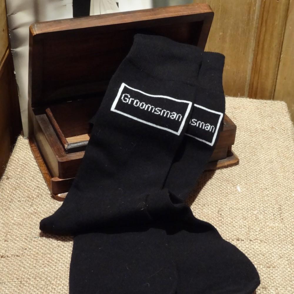 Groomsman Black Wedding Socks