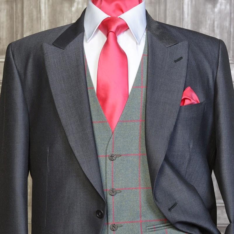 Tweed Sage / Rasberry
