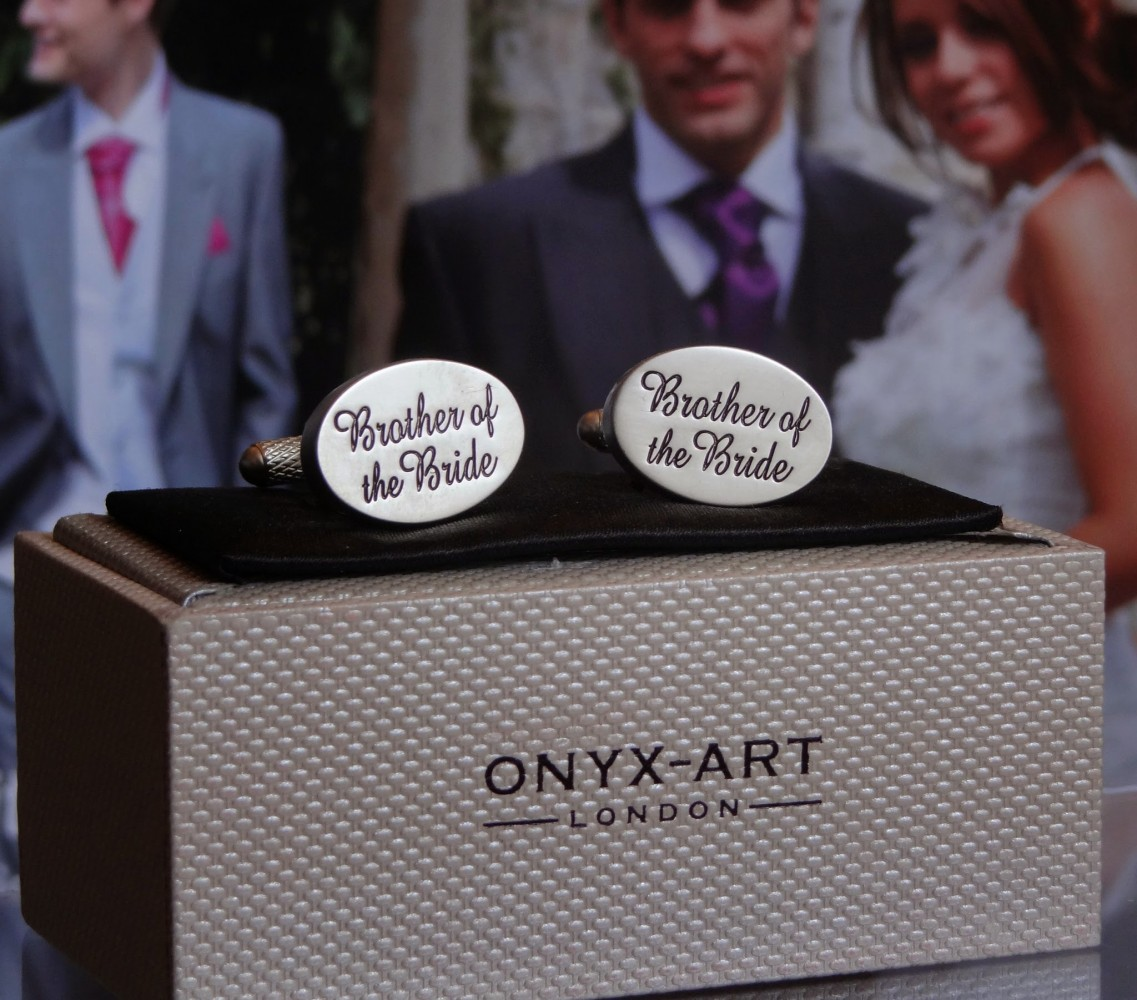 Brother of the Bride Oval Cuff Links