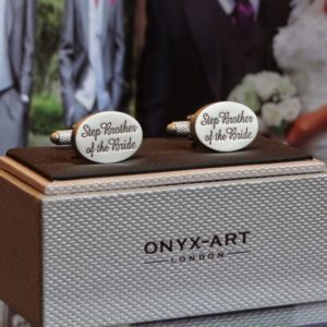 Step Brother of the Bride Oval Cuff Links