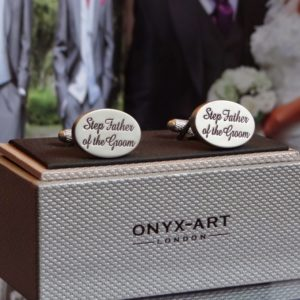 Step Father of the Groom Oval cuff Links
