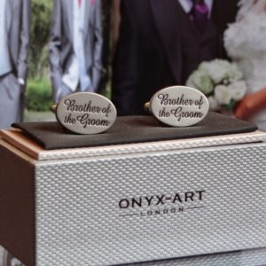Brother of the Groom Oval Cuff Links
