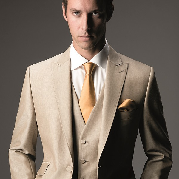Light Beige Slim Fit Suit