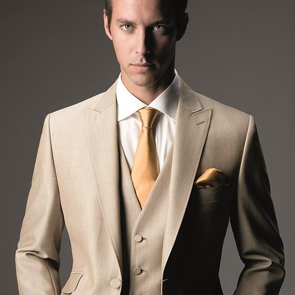Light Beige Slim Fit Suit