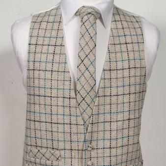 Harris Tweed Ivory & Turquoise