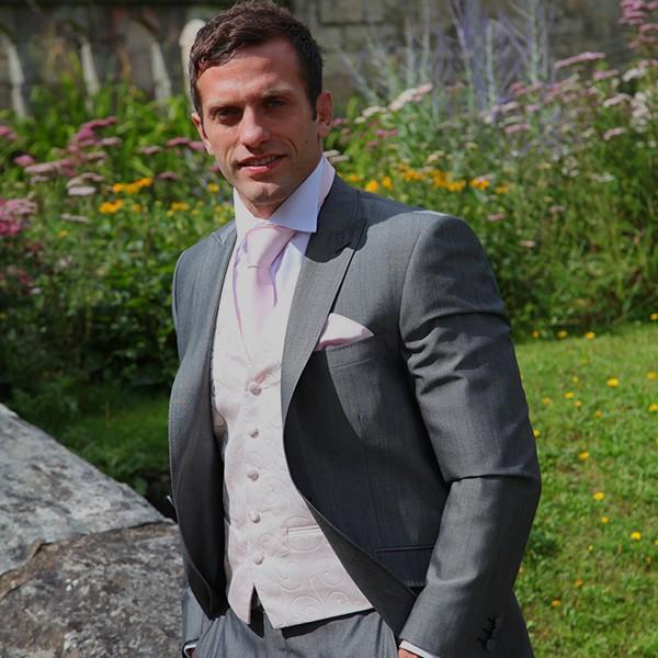 Silver Slim fit suit