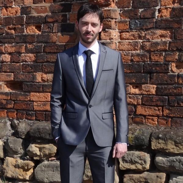 Grey Slim Fit Suit 2PC