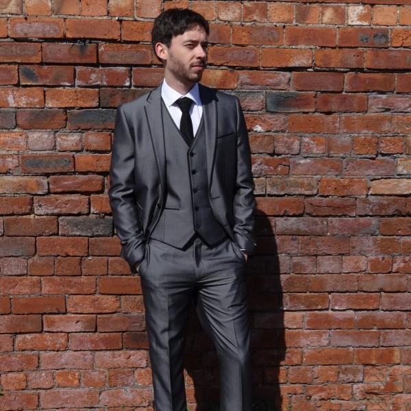 Grey Slim Fit Suit 3PC