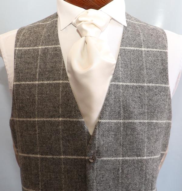 Charcoal Ivory Tweed
