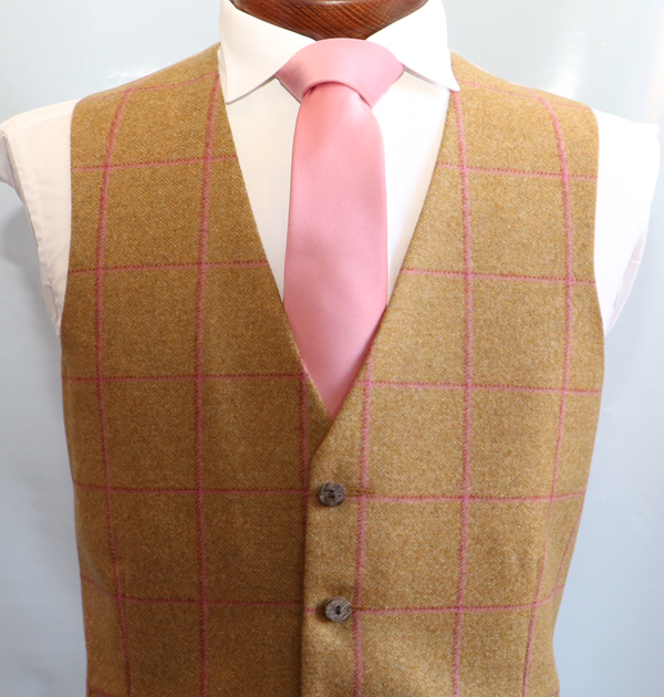 Gold Pink Tweed