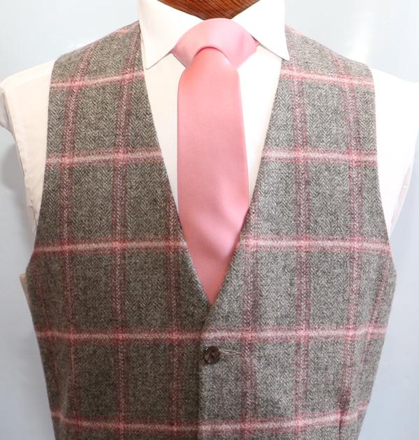 Pink Charcoal Tweed